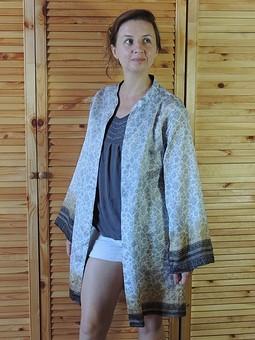 Работа с названием Летняя рубашка/кардиган из шелка