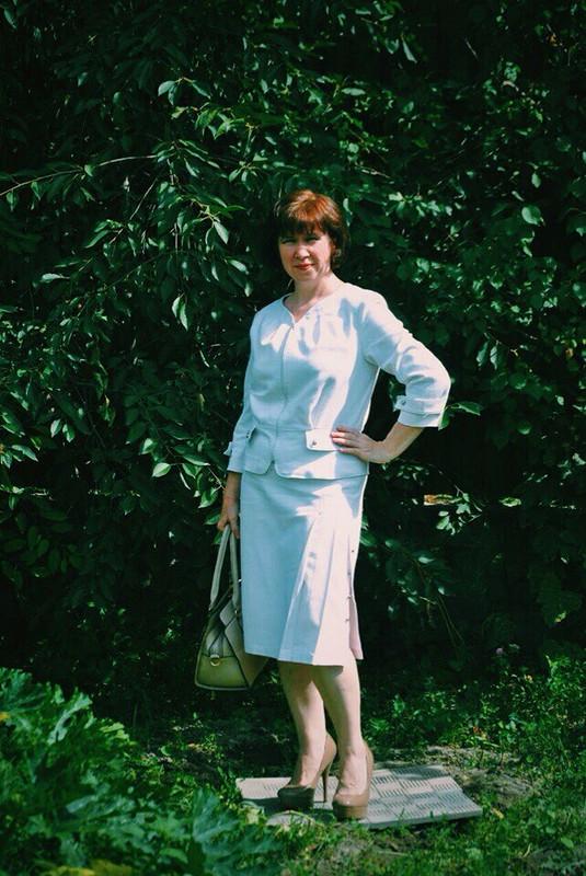 Белый костюм(юбка) от Olga_kz