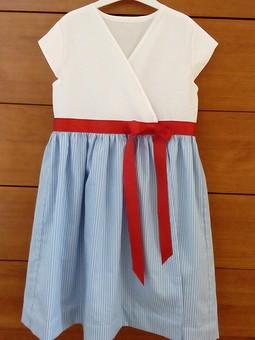 Работа с названием Морское платье для крестницы