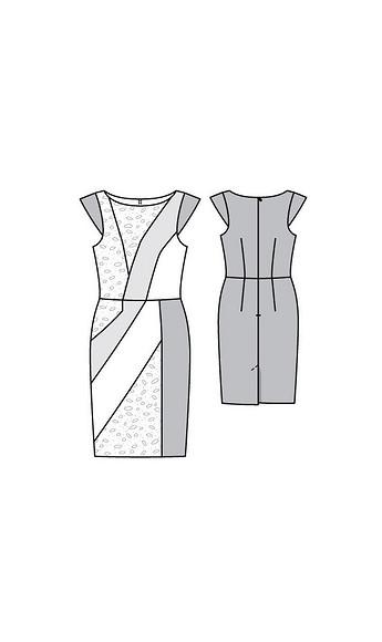 Облегающее платье встиле колор-блокинг своими руками