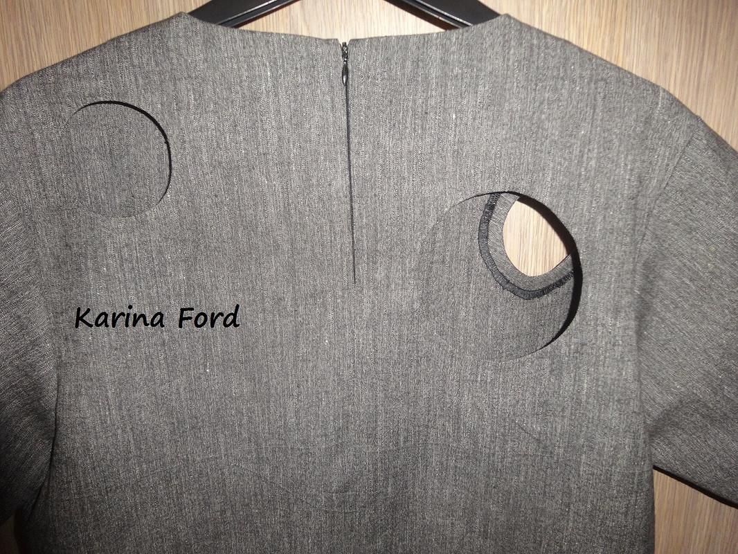 Платье серое от Карина Форд