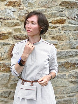 Работа с названием French linen & French cotton.Платье-рубашка