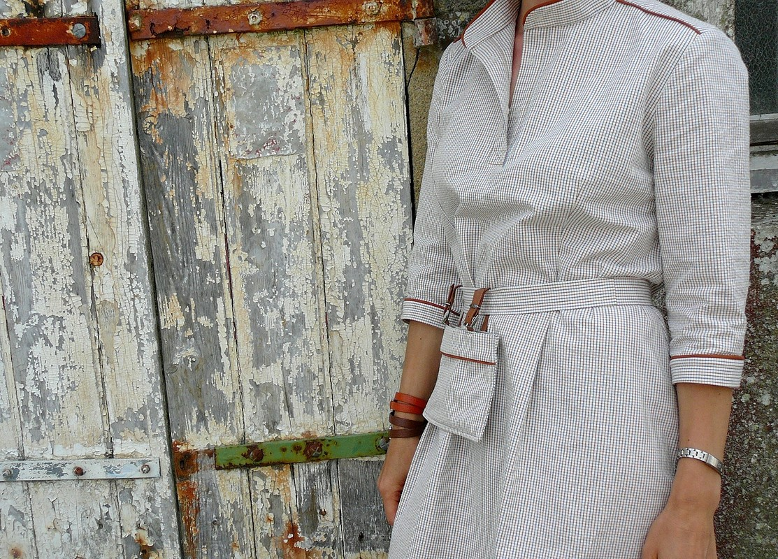 French linen & French cotton.Платье-рубашка