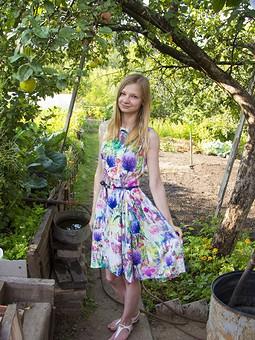 Работа с названием Моё любимое летнее платье