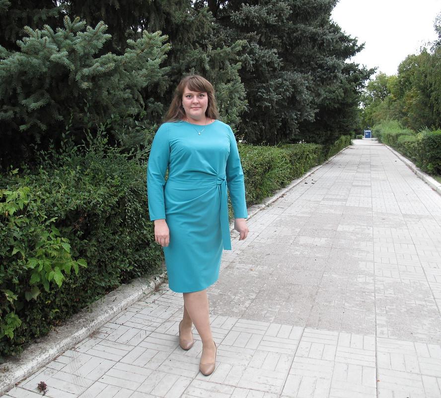 Августовское платье сзавязками