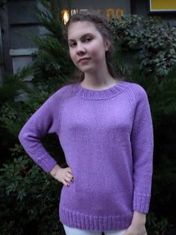 Работа с названием Вязаный пуловер