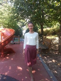 Работа с названием Осенняя юбка