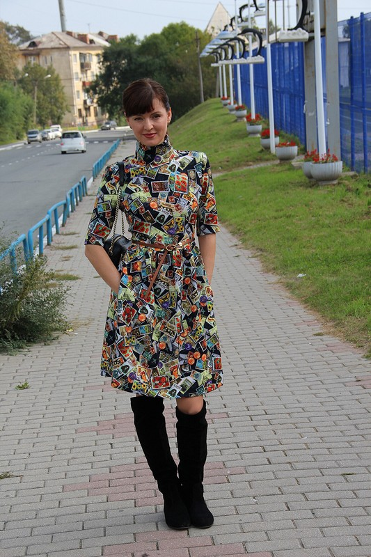 Платье «Коллекция марок»