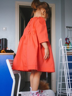 Работа с названием Детское платье с рукавами