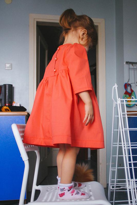 Детское платье срукавами от sgushenka