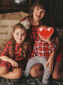 Работа с названием Family look для мамы и дочки