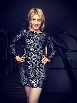 Работа с названием Мое трикотажное платье в стиле Аллы Пугачевой