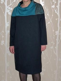 Работа с названием Платье по выкройке пуловера