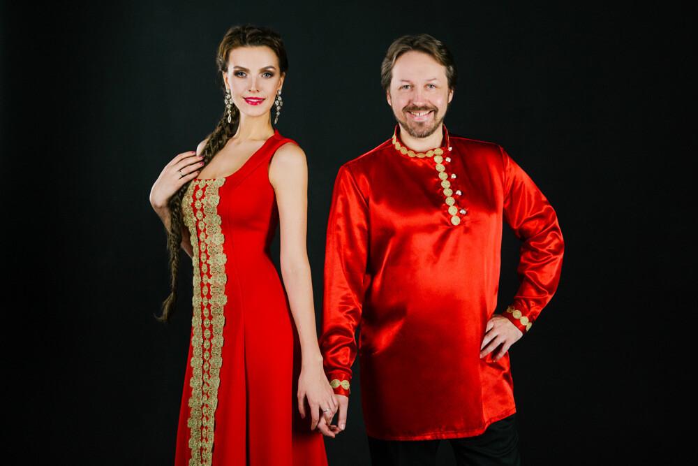 Дебют-сценические костюмы врусском стиле.Сарафан иКосоворотка