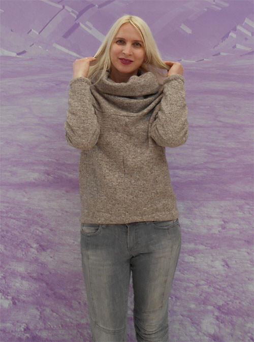 Шерстяной пуловер поБурде