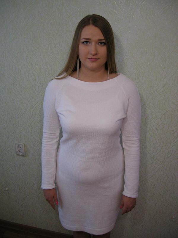 Молочное платье изкапитония от Sveta Sews