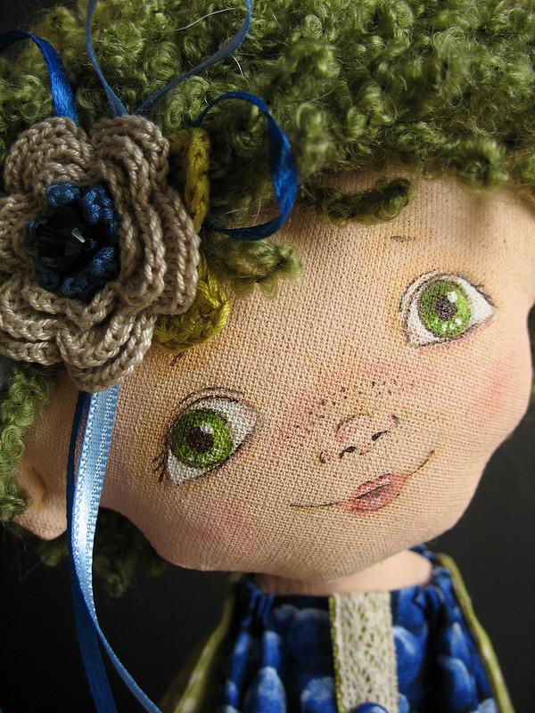 Кукла текстильная «Черничка»