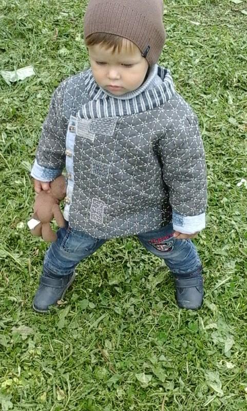 Детский стеганный ватник длямальчика «Король - рыбак»