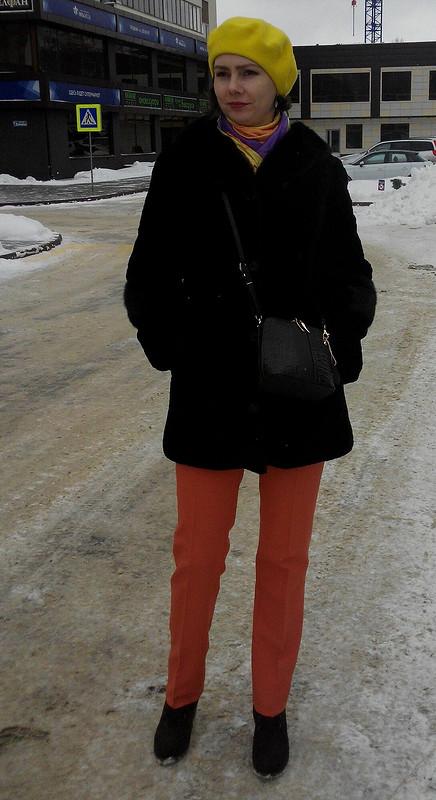 Рыжие брюки от Юлия Гелемеева