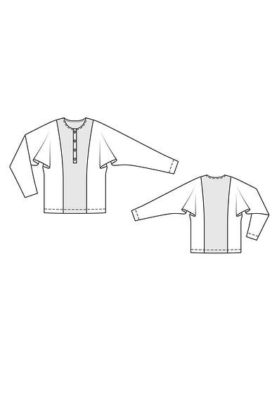 Пуловер иплатье синтересными рукавами поодной выкройке