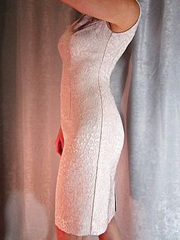Работа с названием Платье из жаккардовой ткани на Новый год