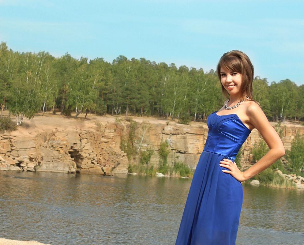 Синий корсет