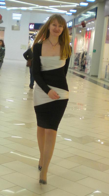 Чёрно-белое платье