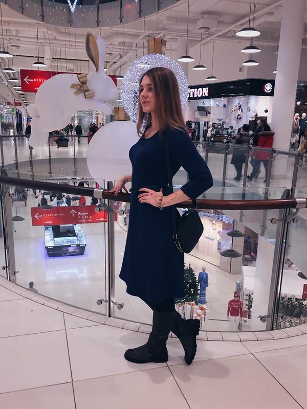 Платье стежка