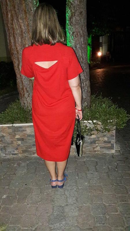 Еще недавно было лето... красное платье от EVERA