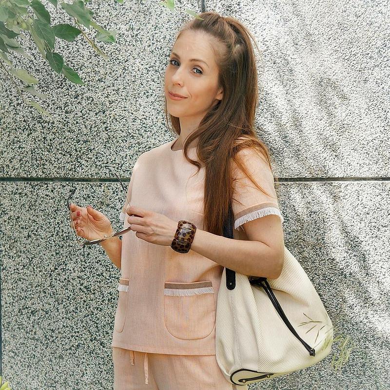 Льняной костюм от Юлия Морозова