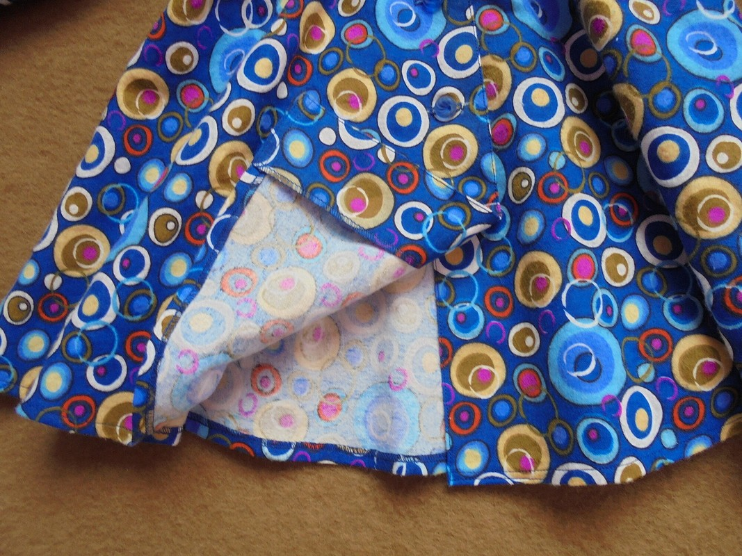 Платье-рубашка изфланели
