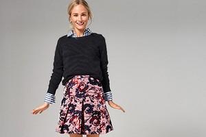 Как сшить короткую юбку со складками
