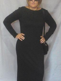 Работа с названием Длинное платье из трикотажа