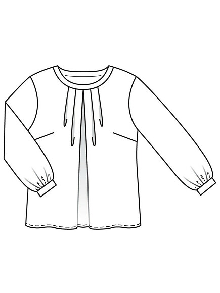 Как сшить шёлковую тунику размера плюс