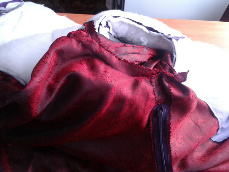 Стеганое пальто наутеплителе своими руками (Часть 2)