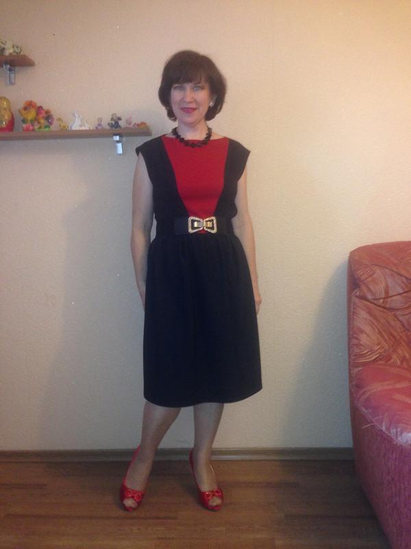 Черно-красный комплект. Платье от Olga_kz