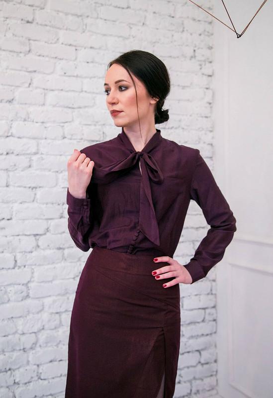 Блузка сбантом от Kuznetsova_ME
