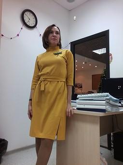 Работа с названием Платье трикотажное теплое и комфортное
