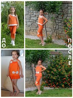 Работа с названием Переделанные летние комплекты для девочки