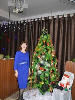 Работа с названием Новогодняя синева