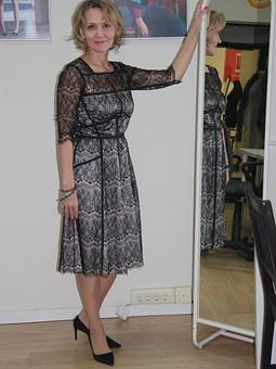 Работа с названием Новогоднее кружевное платье))