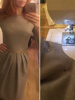 Работа с названием Тёплое платье