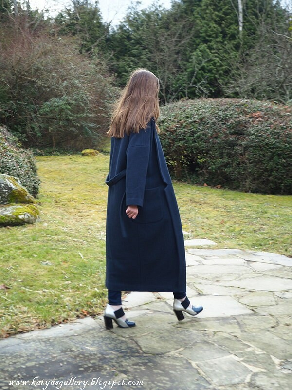 Антрацитовое пальто