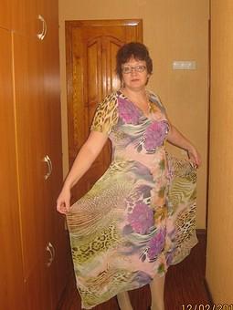 Работа с названием Платье из купонной ткани