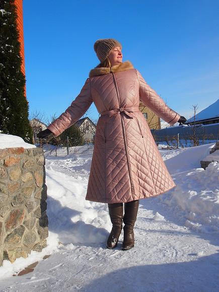 Карман врамку вшве синтепонового пальто