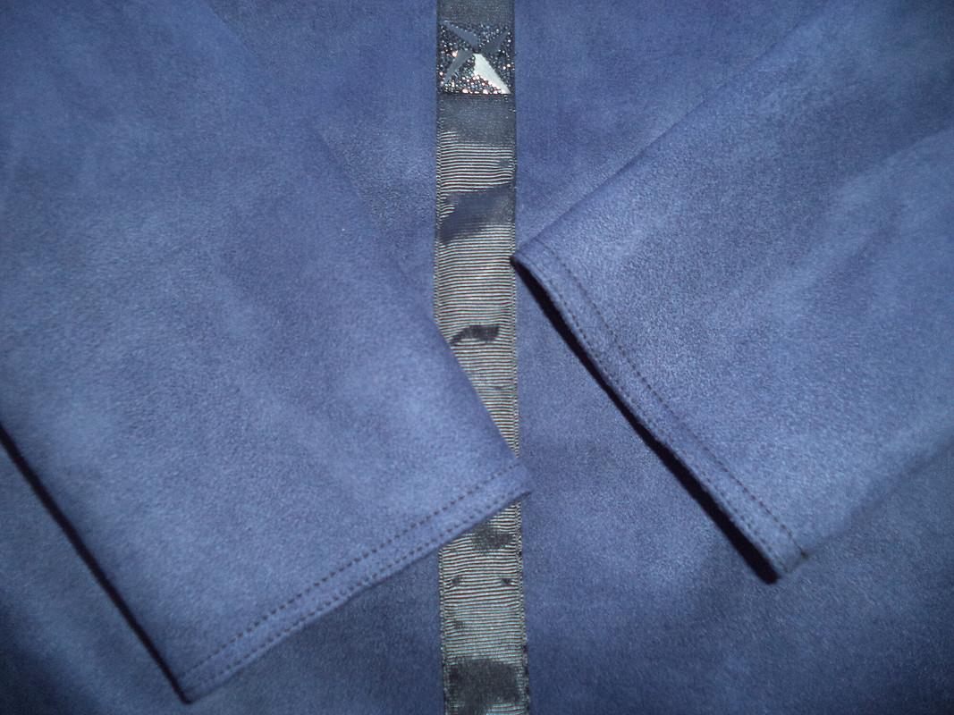 Синее замшевое своланом