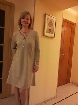 Работа с названием Очередное платье из  замши