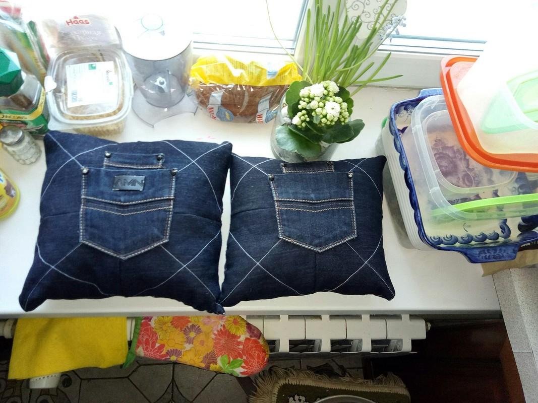 Подушки изстарых джинсов