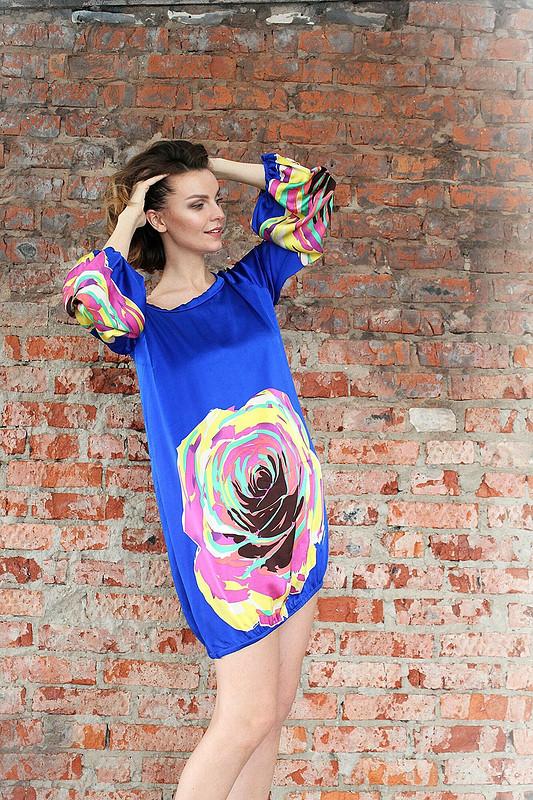 Платье изшелка