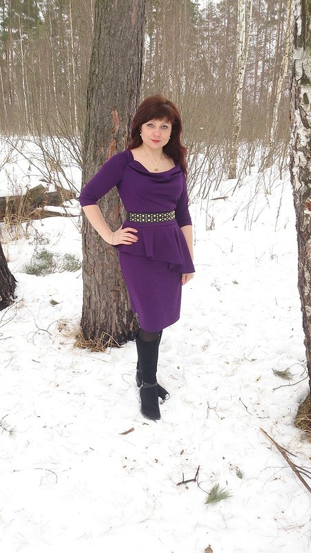 Платье цвета «баклажан» от MarKo